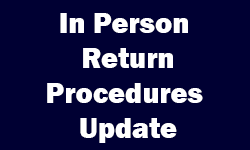 In Person Return Procedures
